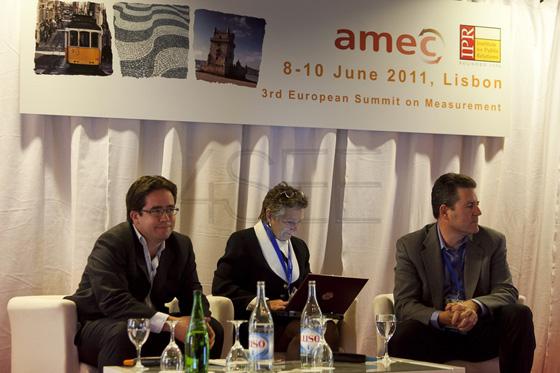AMEC2011 3rd European Summit on Measurement at the Tivoli hotel in Lisbon.